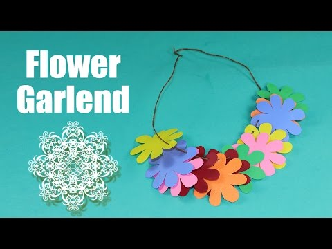 Paper Flower Craft for Kids - Easy DIY Flower Garland