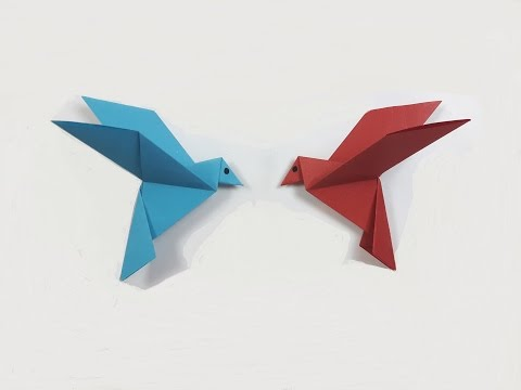How to make a paper Bird? (easy origami)