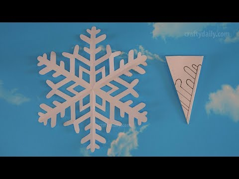 How to make easy paper snowflakes - Paper Snowflake #08