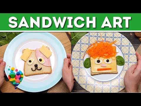 DIY Food Art For Kids: How To Make Sandwiches Smile | Toast Art Ideas | A+ hacks