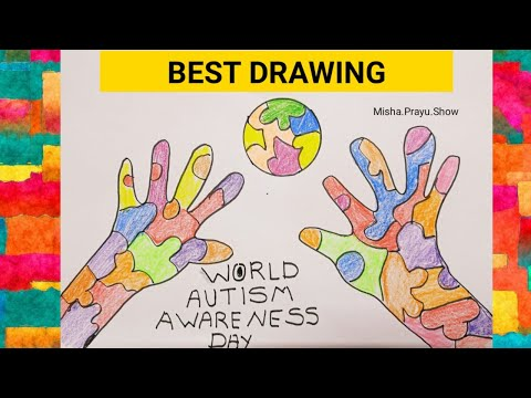 World Autism Awareness Day 2021 | Concept Drawing of Autism Awareness Step by Step | Autism Drawing