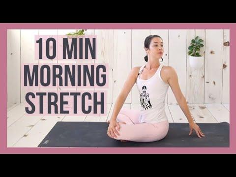10 min Morning Yoga Stretch for Beginners - Energy Boost Yoga
