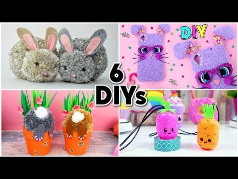 6 DIY for EASTER | easy rabbits CRAFTS and Eggs CRAFTS FOR CHILDREN