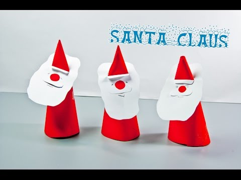 DIY Christmas: How to make a paper Santa Claus