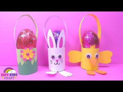 Easy Easter Egg Basket DIY | Easter Crafts for Kids
