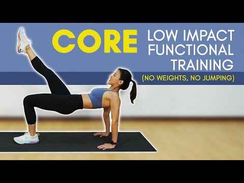 Beginner Low Impact CORE Functional Training (No Weights, No Jumping!) | Joanna Soh